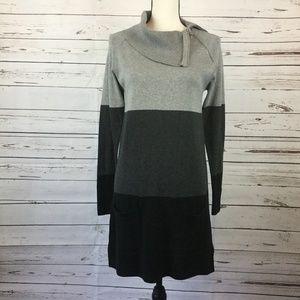 Color Block Knit Dress, Size S